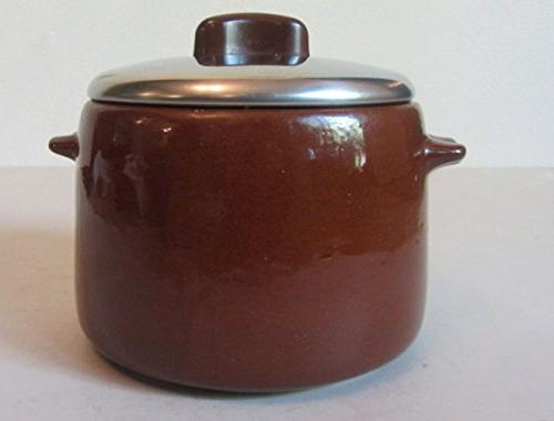 vintage brown glaze ceramic crock