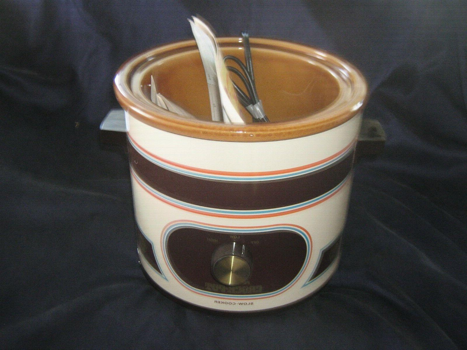 Vintage Crock Pot/Slow Cooker, 3-1/2 1970's Model ALMOND