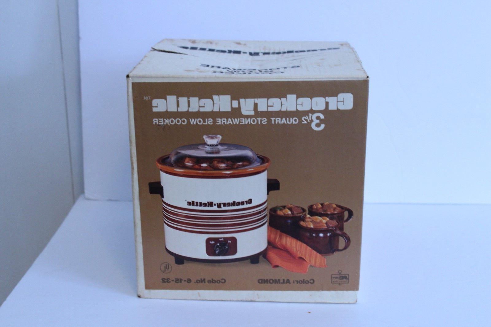 Vintage Slow Cooker Qt NEW