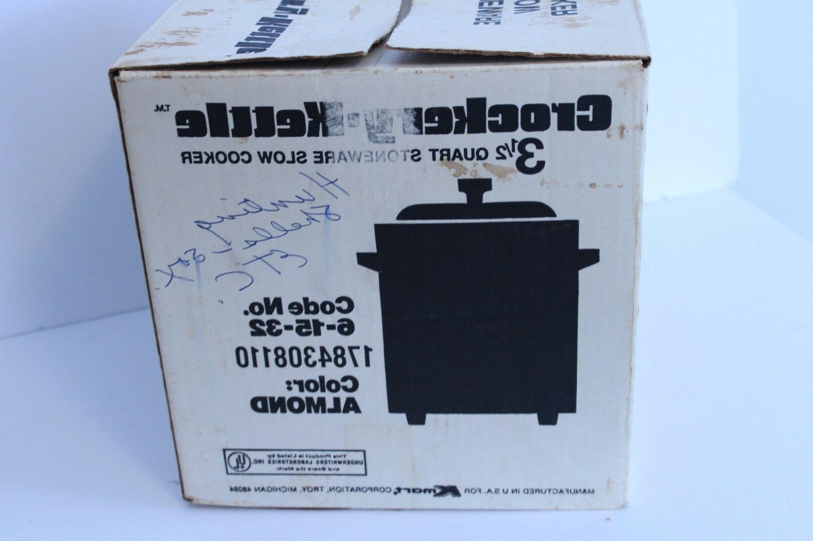 Vintage Crockery Kettle Cooker Crock Qt Japan Stoneware
