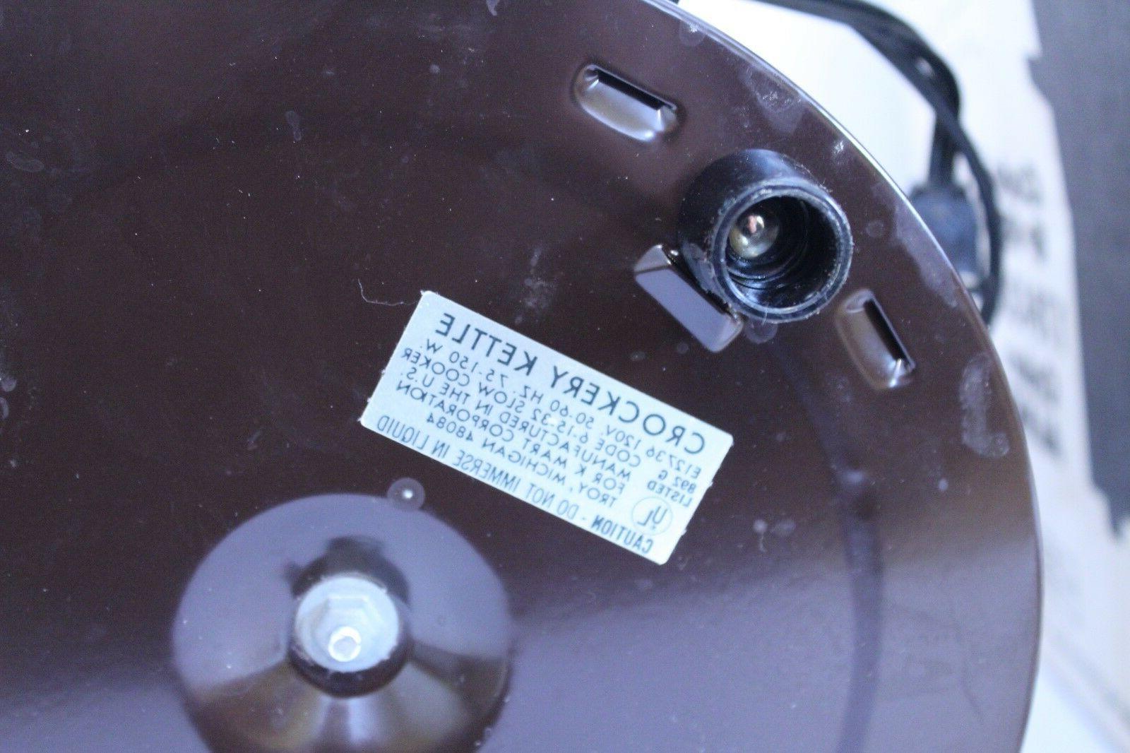 Vintage Crockery Cooker Crock Qt Japan NEW