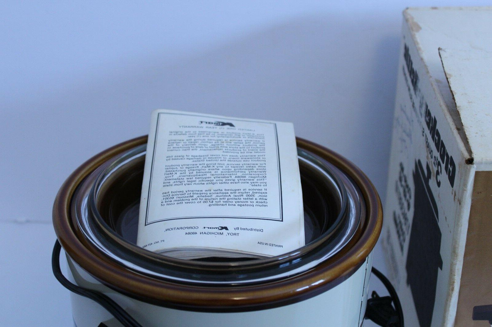 Vintage Crockery Slow Qt Stoneware