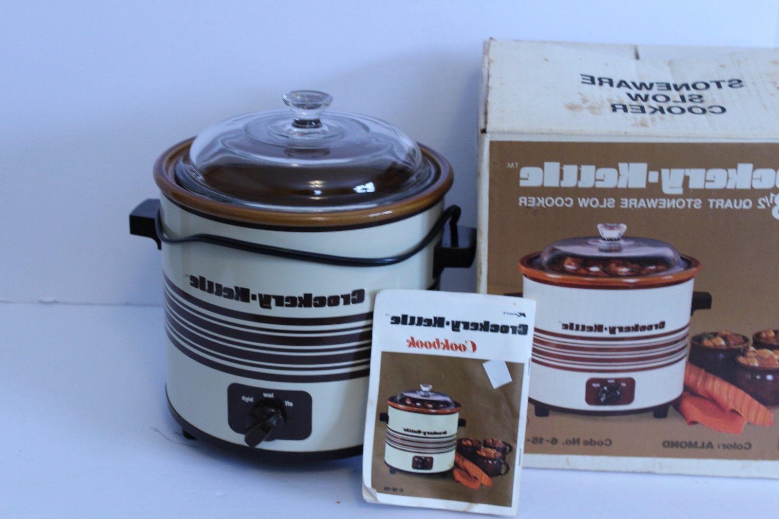 vintage crockery kettle slow cooker crock pot