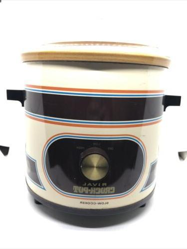 vintage crockpot slow cooker model 3100