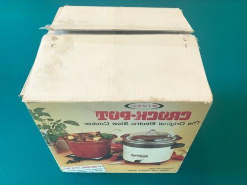 Vintage Crock Cooker 3.5 Quart NEW