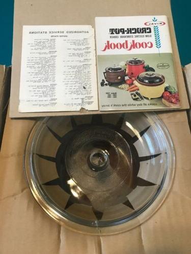 Vintage Rival Model Crock Cooker 3.5 NEW in