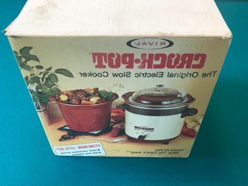 vintage rival model 3150 crock pot stoneware
