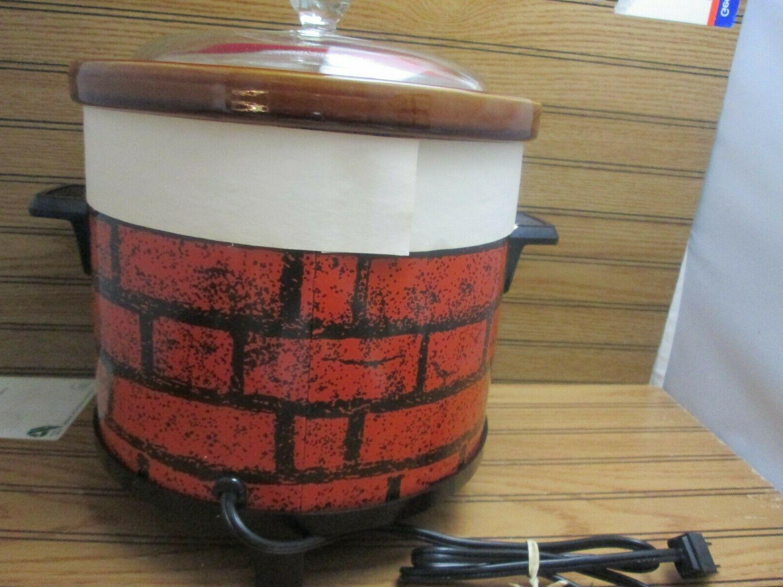 Vtg Crock Cooker 4 Brick 449