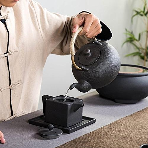 YONGJUN Ceramic Matte Finish Natural Handle, Oriental Zen Style