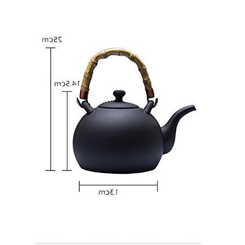 YONGJUN Teapot Matt Finish Smooth With Pebble Shape Style