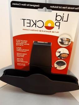Lid Pocket, Lid Holder Design For Slow Cookers. Holds Lid Ou