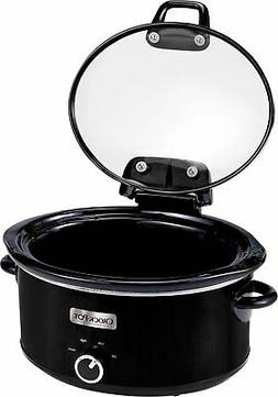 Crock-Pot Lift & Serve Hinged Lid 6-Quart Oval Slow Cooker,