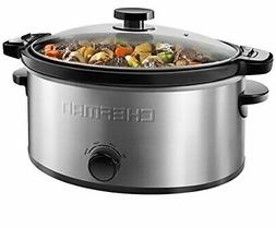 Chefman Locking Lid Slow Cooker Removable Stoneware for