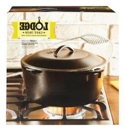 Lodge Logic Dutch Oven 5 Qt. Cast Iron Pre-Seasoned 10-1/4