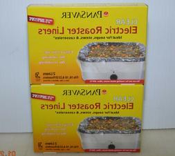 Lot 2 Electric Roaster Pan Liners PANSAVER NSF Cert BPA Free