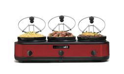maxi matic ewmst 325r triple slow cooker