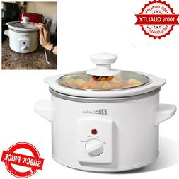 Maxi-Matic MST-250XW Slow Cooker, 1.5 Quart, Tempered Clear
