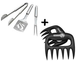 Meat Claws + BBQ Grill Tools Set - HEAVY DUTY 20% THICKER ST