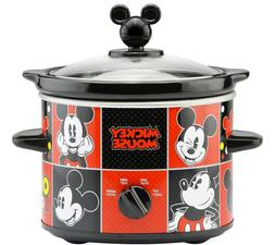 Disney Mickey Mouse 2 Quart Round Slow Cooker with Adjustabl