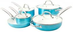 Oster 109445.09 Montecielo 9pc Aluminum Cookware Set, Metall