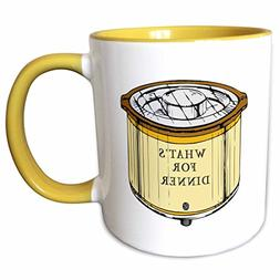 3dRose mug_80355_8 Crock Pot with Whats for Dinner Written o