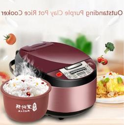Aicooker Multi-Function Purple Clay Pot Digital Rice Cooker