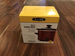 NEW Bella 1.5 Qt Slow Cooker Crockpot Red Mini