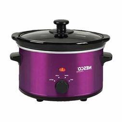 New Nesco  1.5 Quart Oval Slow Cooker- Metallic Purple-