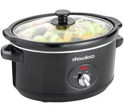 new Cook works 3.5L Compact Slow Cooker kitchen appliance bl
