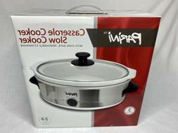 NEW Parini 3 pc Stainless Steel Casserole Cooker Slow Cooker