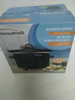 NEW Brentwood  3-Qt. Programmable Slow Cooker NEW IN BOX