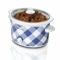 NEW 3 Quart Slow Cooker Oval Shape Crock Dishwasher Safe Sto