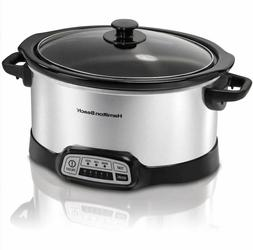 New 5 Quart Crock Pot Programmable Slow Cooker Oval Silver B