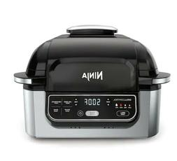 NEW Ninja AG302 5-in-1 Indoor Grill - Black & Silver AG302 M