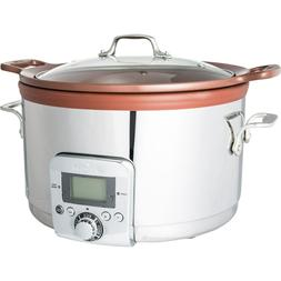 New All-Clad Gourmet 5 Quart Slow Cooker with All-in-One Bro