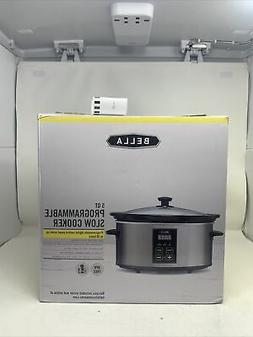New Bella Programmable Slow Cooker Crock Pot 5qt Large Stain