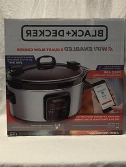 NEW BLACK and DECKER WiFi Enabled 6-Quart Slow Cooker WI-FI