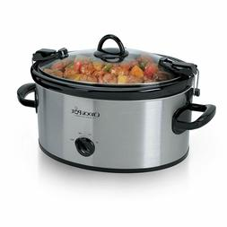 Crock-Pot 6-Quart Cook & Carry Manual Portable Slow Cooker,