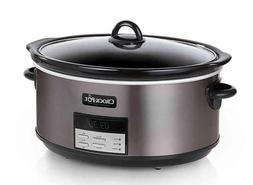 New Crock-Pot 8 qt. Programmable Slow Cooker Black Stainless