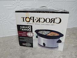 NEW Crock Pot Double Dipper Warmer Slow Cooker SCDD-SS New i
