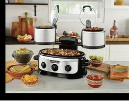 NEW Crock-Pot Swing and Serve 3-in-1 Slow Cooker Stainless S