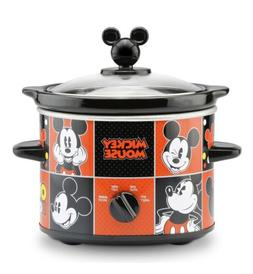 Disney Mickey Mouse 2 Quart Slow Cooker Crockpot, Removable