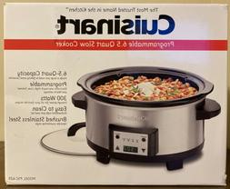 NEW IN BOX CUISINART PROGRAMMABLE 6.5 QUART SLOW STAINLESS S