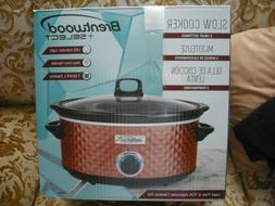 NEW IN BOX BRENTWOOD SELECT SLOW COOKER CERAMIC POT