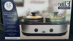 NEW Maxi-Matic Elite Cuisine Double / Dual Dipper Slow Cooke