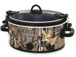 NEW MOSSY OAK 5 QUART OVAL CROCK POT SLOW COOKER