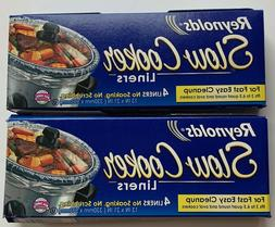 """NEW Reynolds Premium Slow Cooker Liners -13"""" x 21""""  Fits 3 -"""