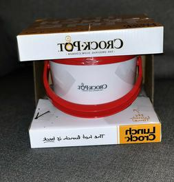 New Red & White Crock-Pot Lunch CrockPot Food Warmer Contain