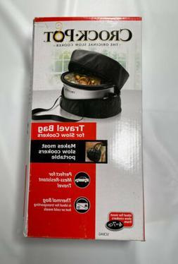 NIB CROCK POT Slow Cooker Travel Bag Black Handles Zipper
