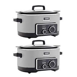 Ninja 6 Quart 3 In 1 Silver Multi-System Slow Cooker